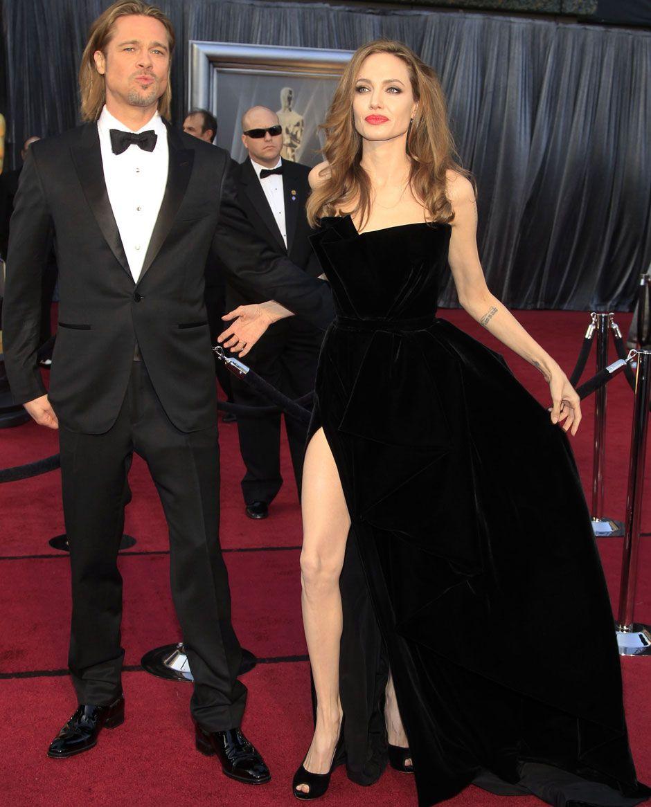 Angelina And Brad Brad Pitt Celebrity Couples High Dresses