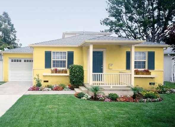 Casa pintada de amarelo