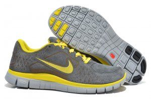 Nike Free Run 5.5 Mens Running Shoes Wool Skin For Winter 2013 Discount Yellow Grey