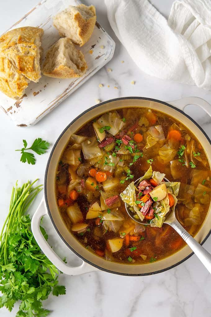 Easy Corned Beef and Cabbage Soup | Recipe | Corn beef ...