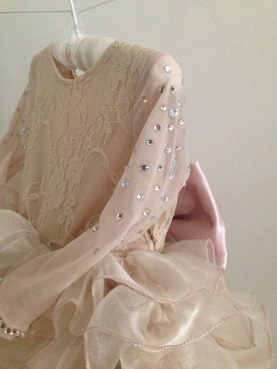 09e5e23b3b2 DIOR DRESS- Flower Girl Dress - Lace Dress - Girls Lace Dress - Big ...