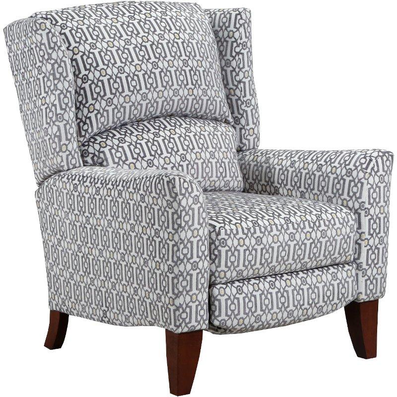 Amazing Platinum Gray High Leg Push Back Recliner Gillian Uwap Interior Chair Design Uwaporg