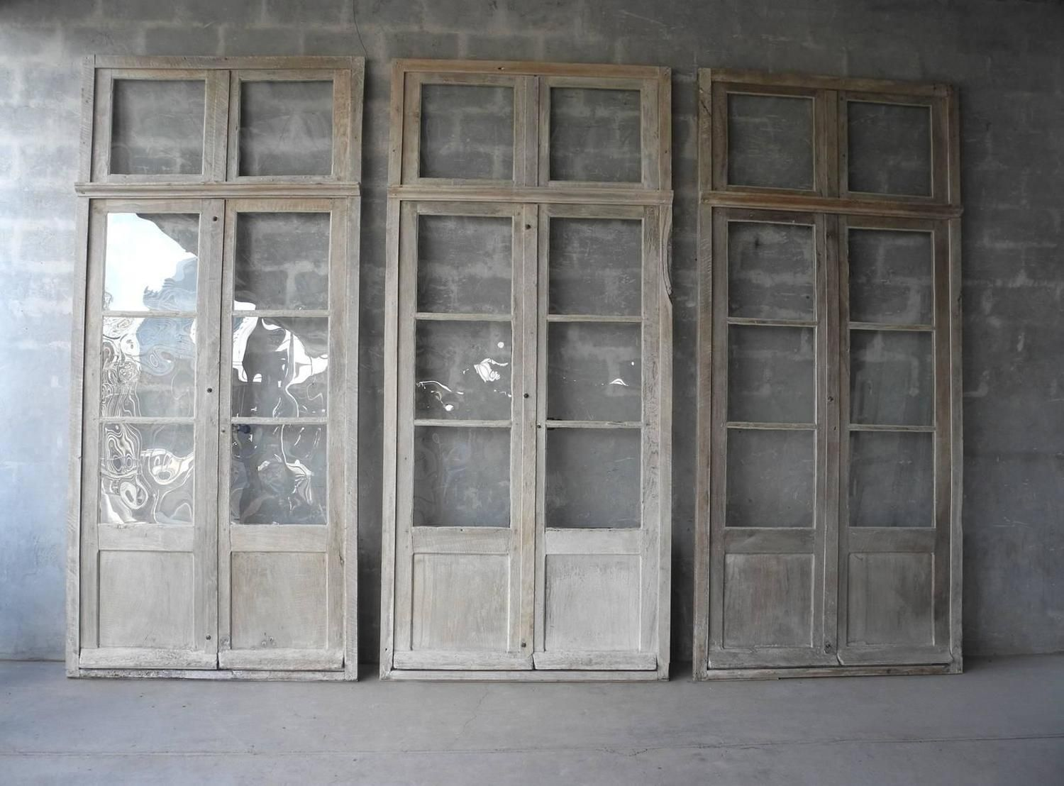 Antique Reclaimed Large Wooden Windows