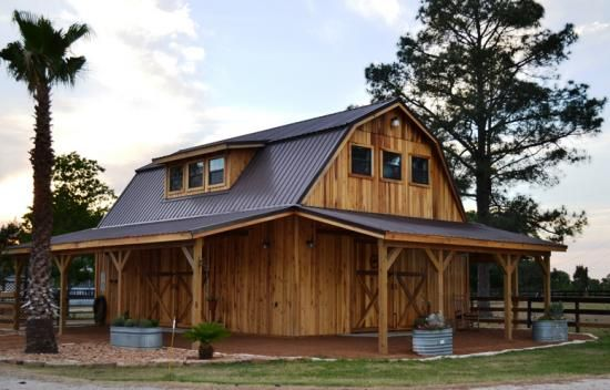 Rustic barn homes on pinterest pole barn homes pole for Wood barn homes