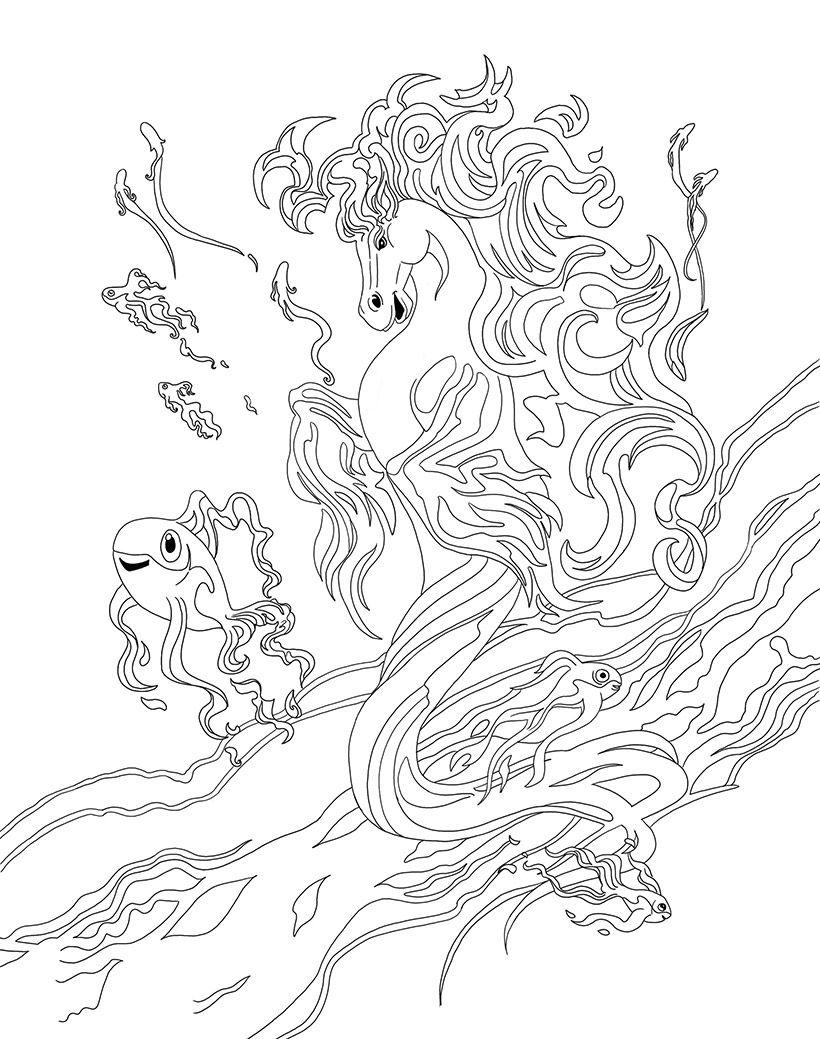 Coloriage tumash le cheval aquatique de bella sara coloring pages pinterest coloriage - Coloriage bella sara ...