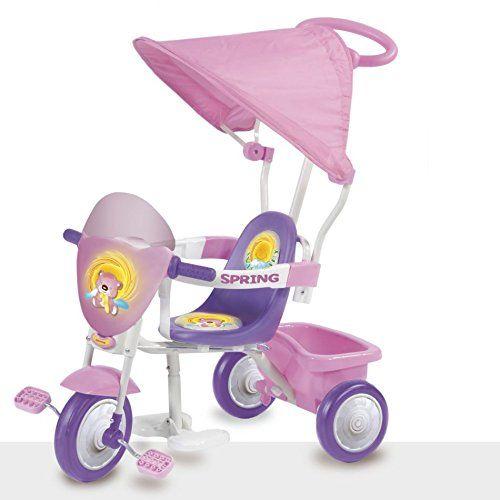 Porta in giro la tua bambina con il Triciclo Spring Rosa ...