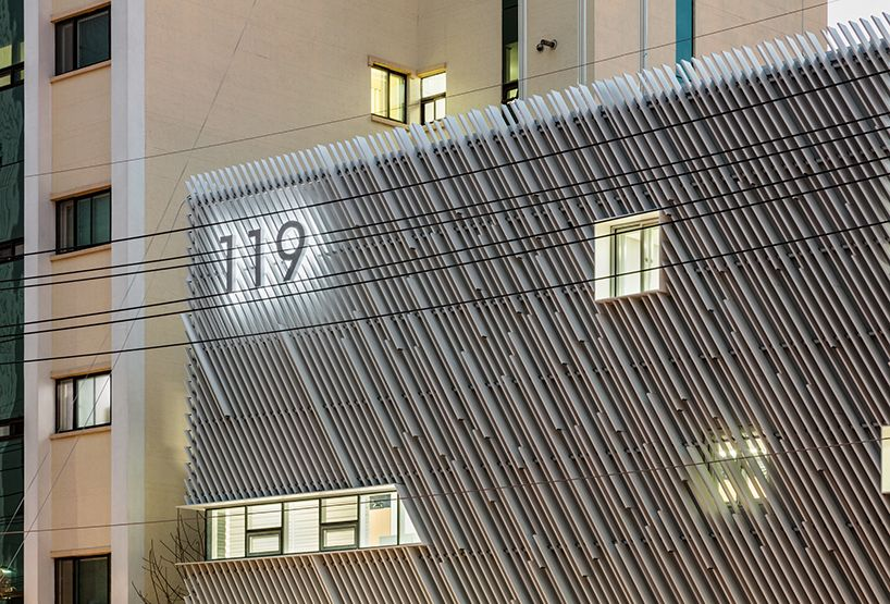 yong ju lee's louvered fire station in korea suggests new