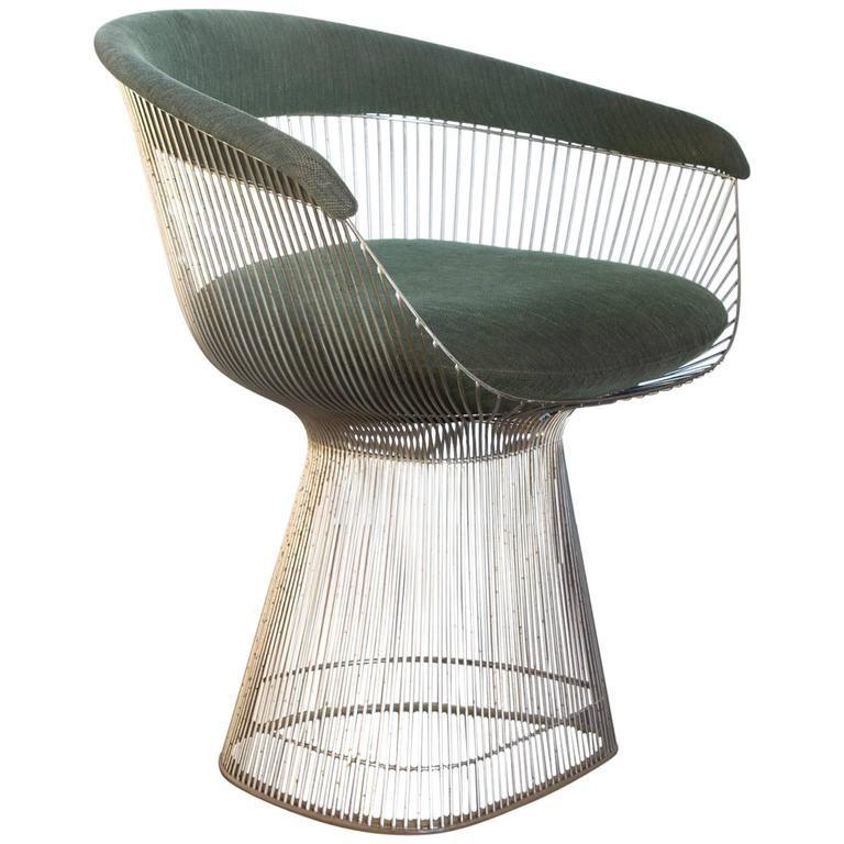 1966 Warren Platner For Knoll International Side Chair In Green