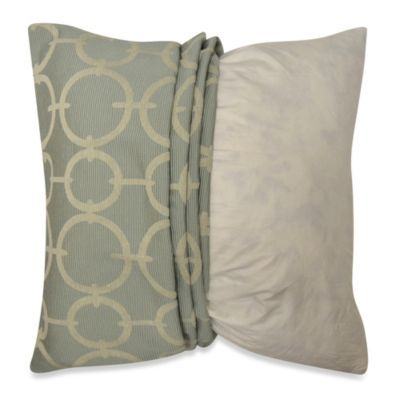 Bed Bath And Beyond Decorative Pillows Simple Buy Myop Deco Geo Venetian 20Inch Square Toss Pillow Cover In Blue Decorating Inspiration