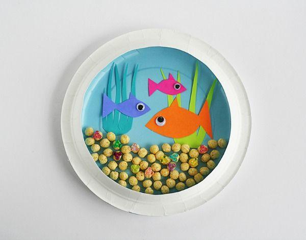Kid Craft Paper Plate Aquarium Inspiration Diy Teaching Ideas