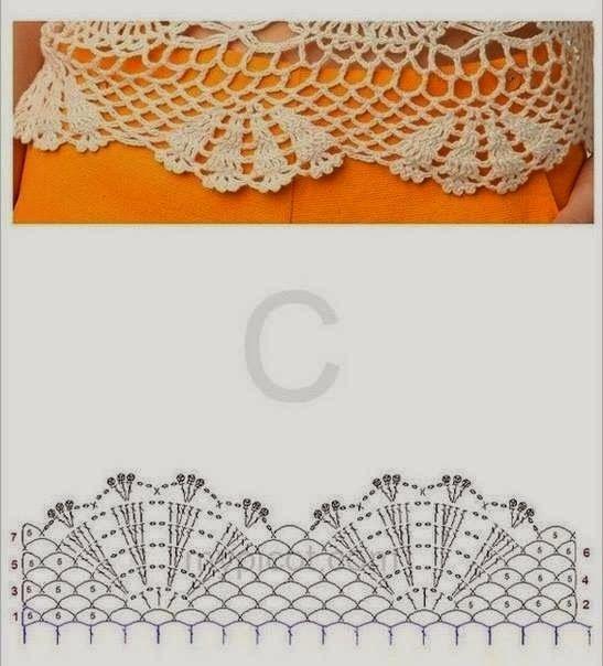 Blusa tejida al corchet con diseño calado y flores - con diagramas ...