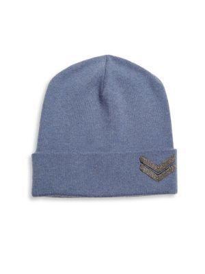 296a071ba05 BRUNELLO CUCINELLI Embellished Cashmere Hat in Oxford