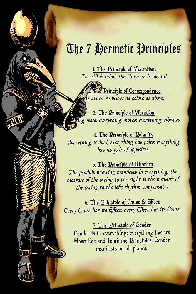 Thoth and The 7 Hermetic Principles Classic T-Shir