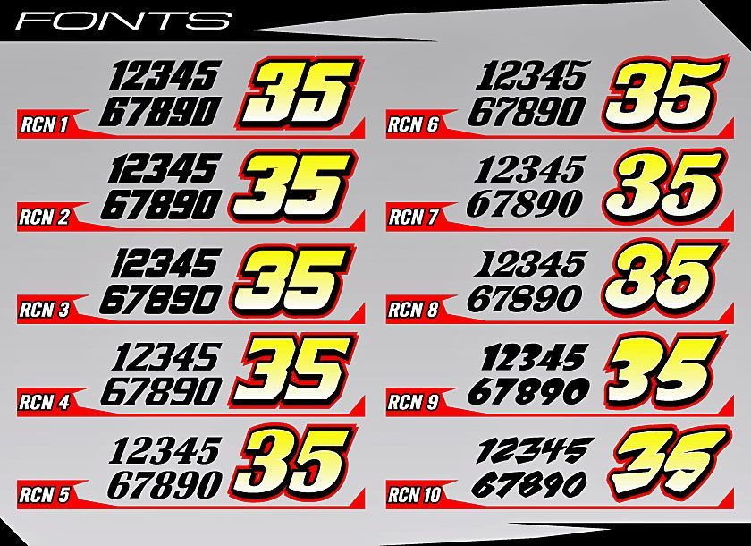 Race Car Number Fonts Free Fonts Pinterest Number Fonts