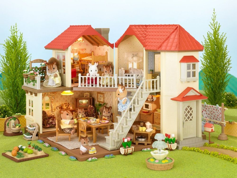 Sylvanian Families Large House With Room Light Epoch Calico Critters Sylvanianfamilies シルバニアファミリー 大屋 ハウスデザイン