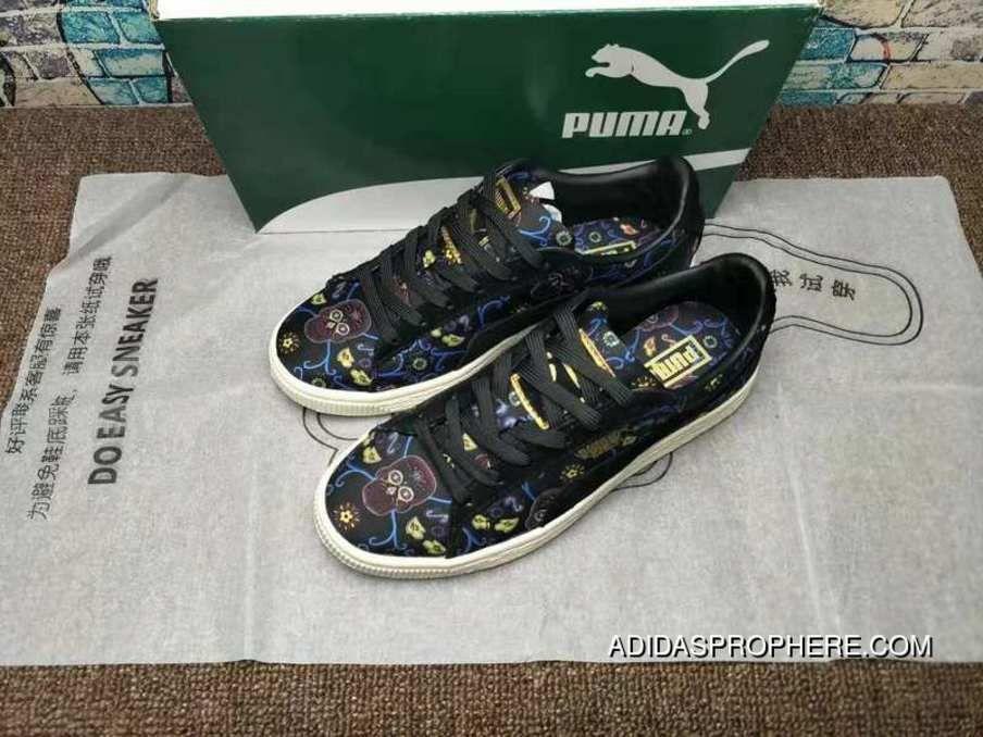 separation shoes 37cc5 6d4ff Puma Platform Dotd Wns Fm Skull Embroidery Casual Sneaker ...