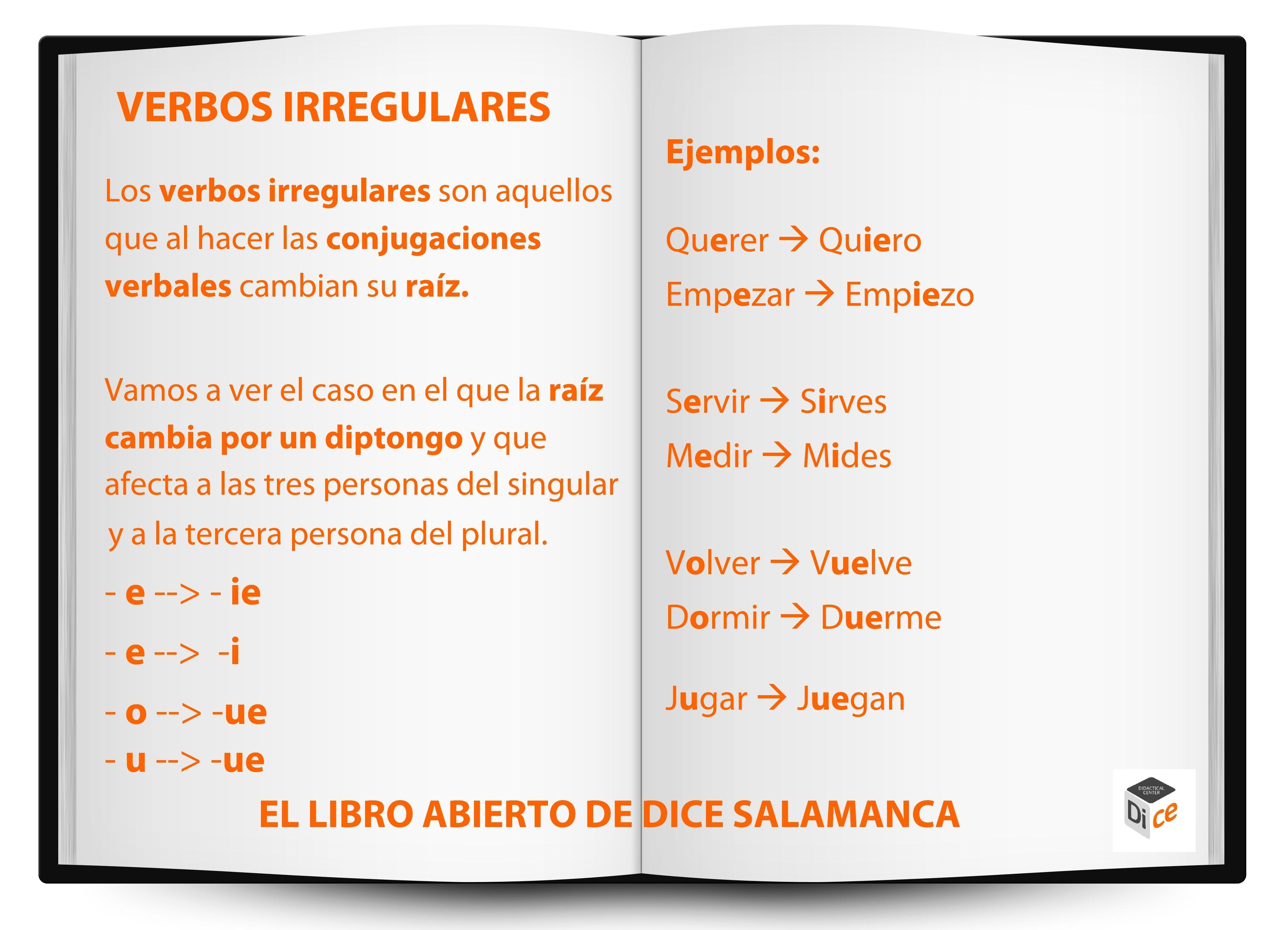 Notes On Verbos Irregulares