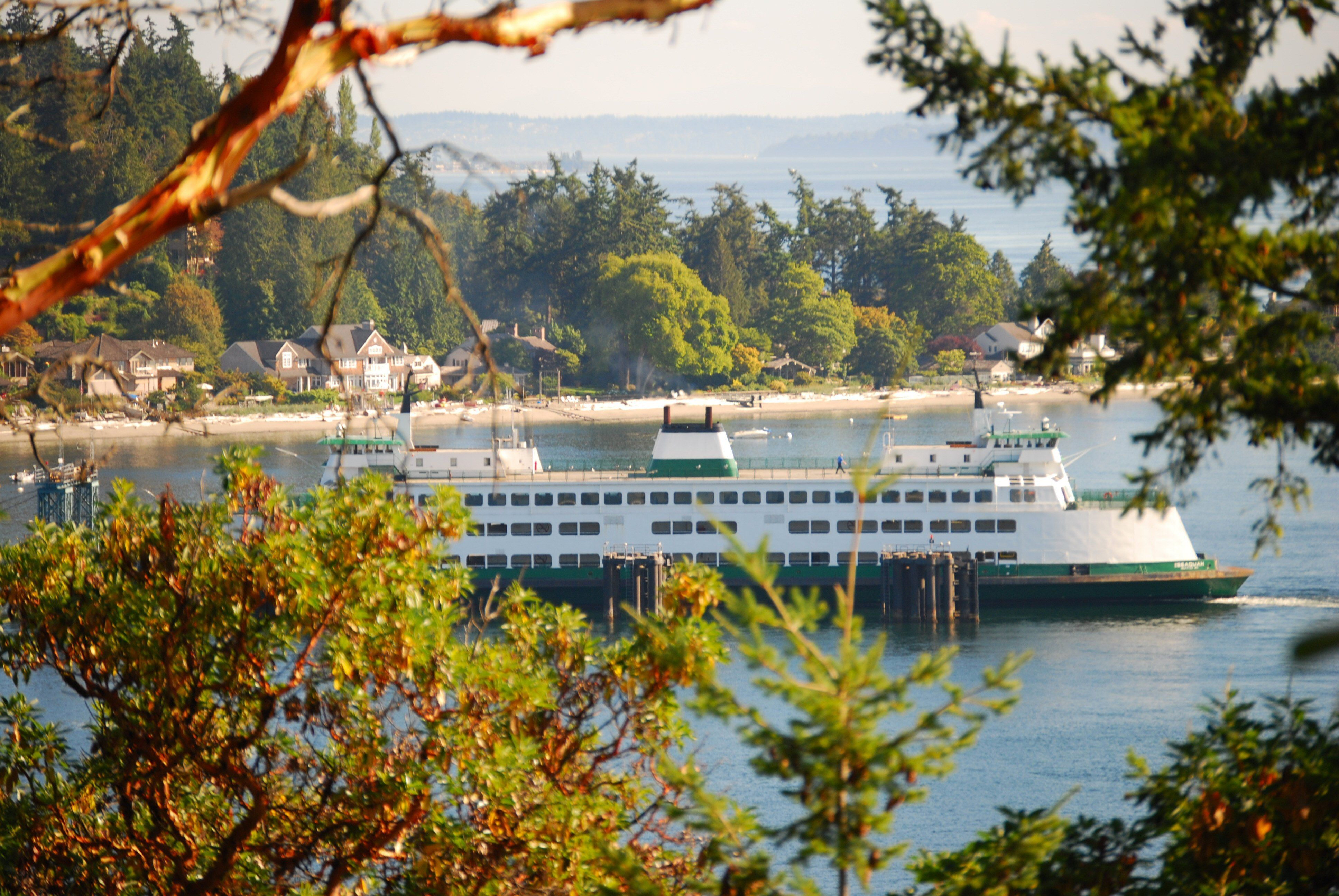 view of the Fauntleroy Ferry from Lincoln Park ...