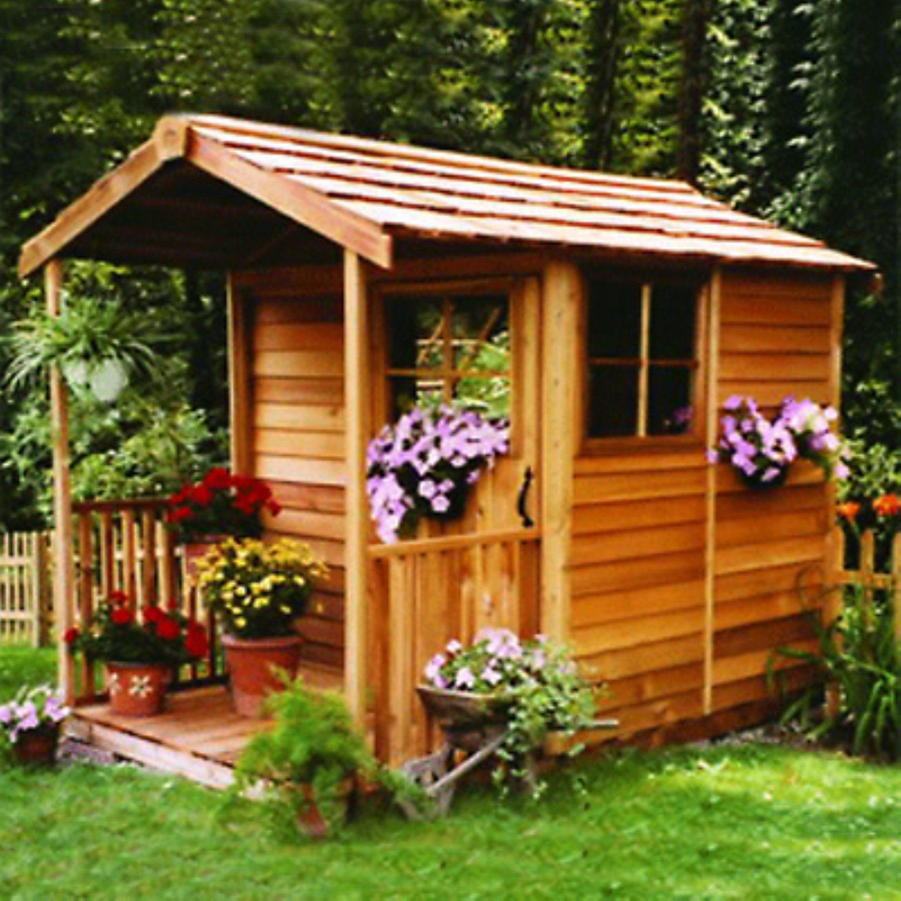 cedar shed 6 x 12 ft gardeners delight potting shed gd612