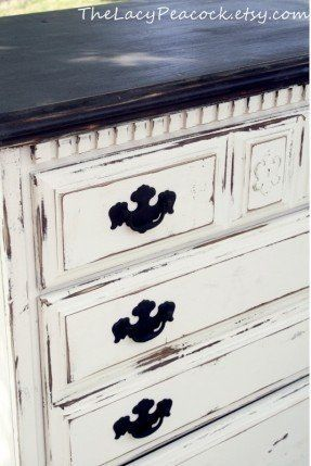 Distressed white bed | Annie salon paint furniture in 2019 ...