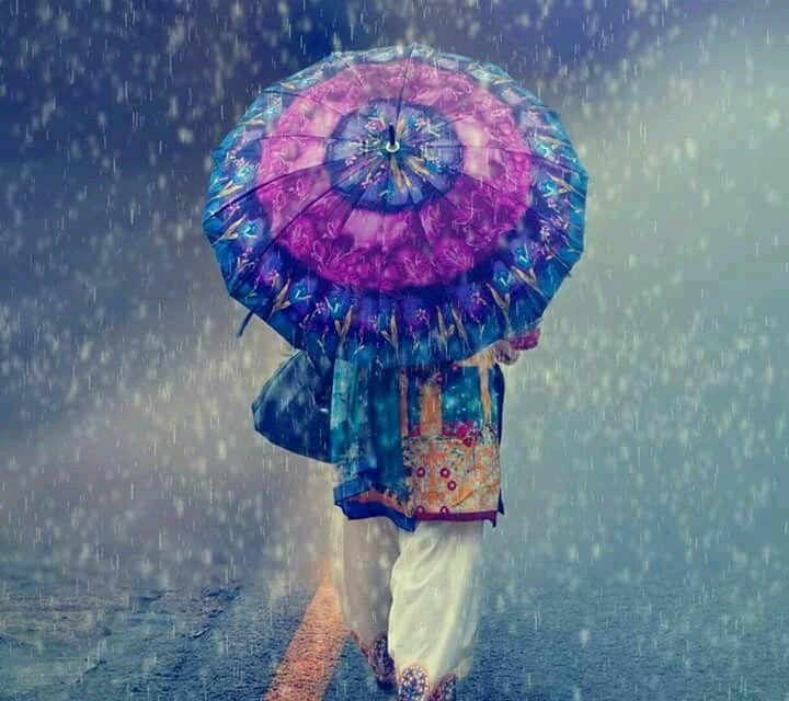 Rainy Rain Painting Rain Painting Dancing In The Rain