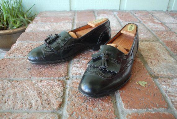 Vintage Mens 9.5 Handmade Churchs Shoes Black by Ramenzombie