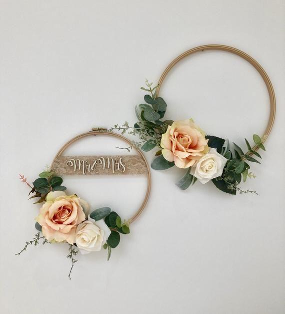 Photo of Floral Hoop Wreath Duo – Bridesmaid Hoop Wreath, Wedding Wreaths, Nursery Decor, Wall Hanging, Hoop Wreath