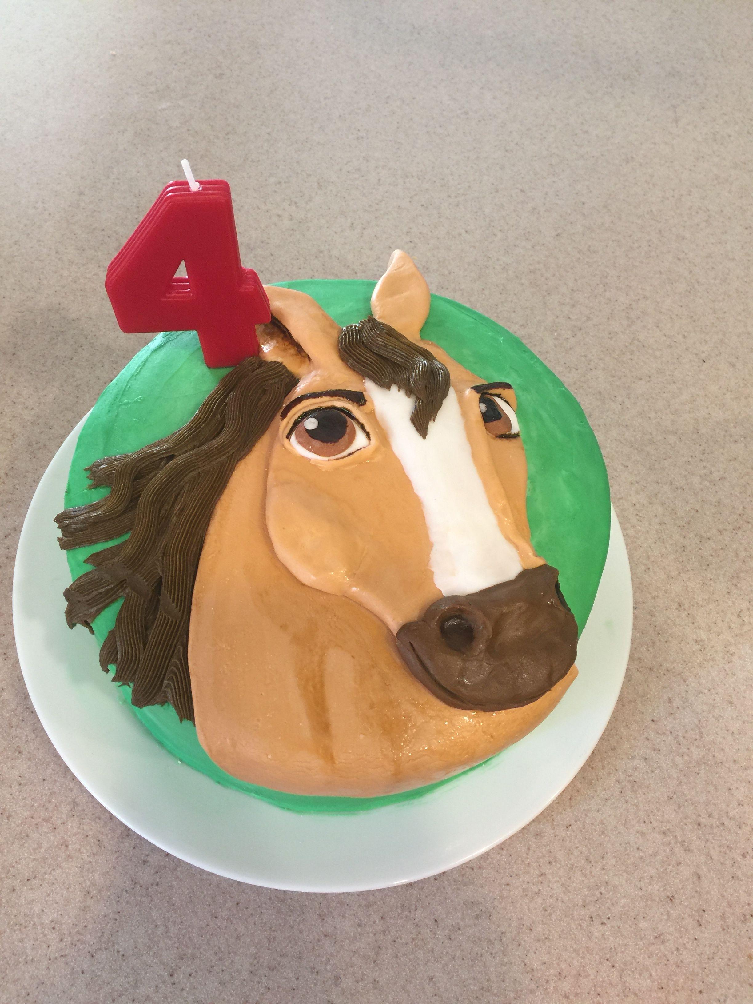 Strange Spirit Riding Free Cake Buttercream And Fondant Cake Personalised Birthday Cards Xaembasilily Jamesorg