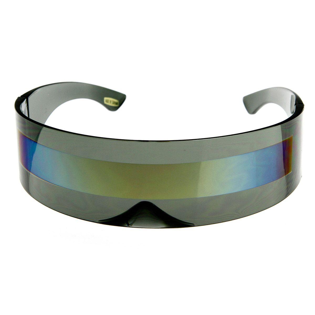 zeroUV - Futuristic Wrap Around Monoblock Shield Sunglasses (Blue) 1uAUtH