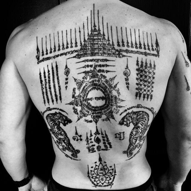 pat dewan sak yant sak yan tatouage tattoo bouddhiste magique protection sacr. Black Bedroom Furniture Sets. Home Design Ideas
