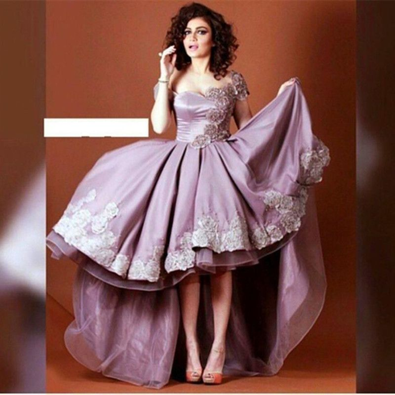 Aliexpress.com : Lavendel Dubai High Low Prom Kleider 2016 ...