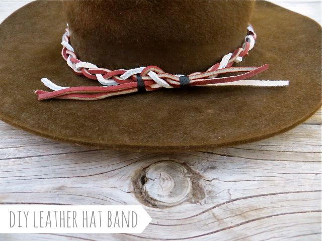 3341a98a373 DIY braided leather hat band