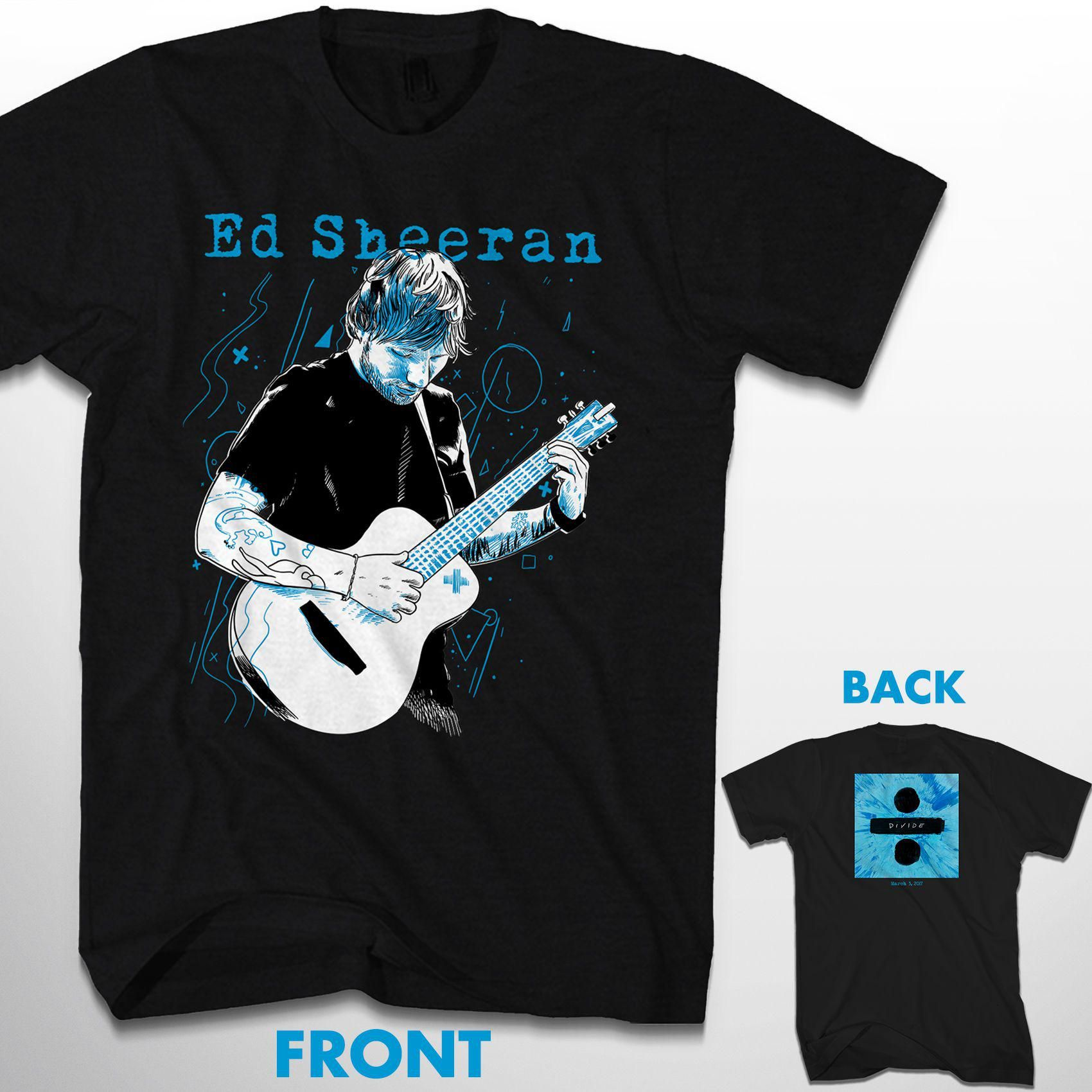 ed sheeran exclusive album t shirt. Black Bedroom Furniture Sets. Home Design Ideas