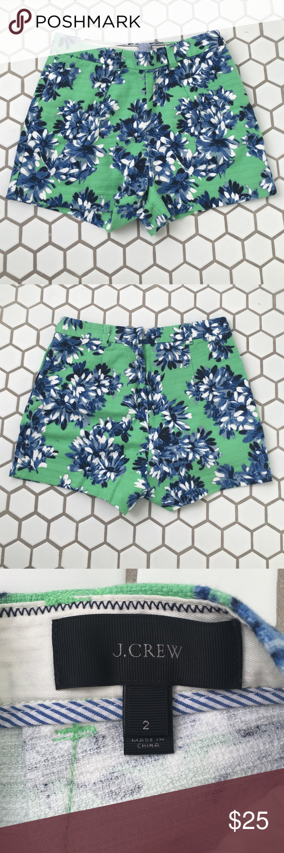 J.Crew Floral Dress Shorts Never been worn!!! Excellent condition. Great for summer. Slightly fitted. J. Crew Shorts