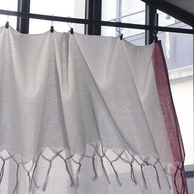 rideaux de coton cru doux et translucide bordure de 4 cm. Black Bedroom Furniture Sets. Home Design Ideas