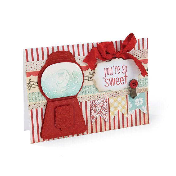 You're So Sweet by Debi Adams using Sizzix. Via Simon Says Stamp.