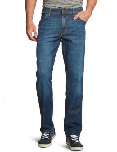 Wrangler New Mens Arizona Stretch Regular Fit Jeans Faded Cool Hand Blue Denim