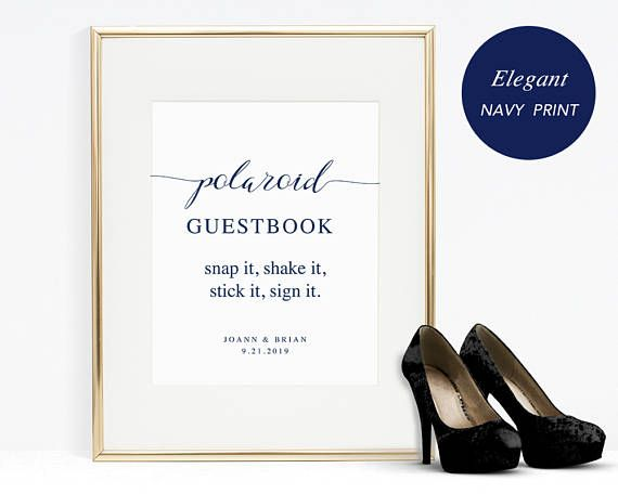 Polaroid Guestbook Sign Template Printable Guest Book Sign