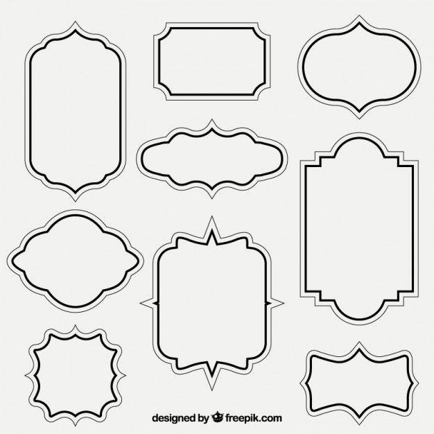 Retro Outlined Frames Frame Template Doodle Frames Picture Frame Template