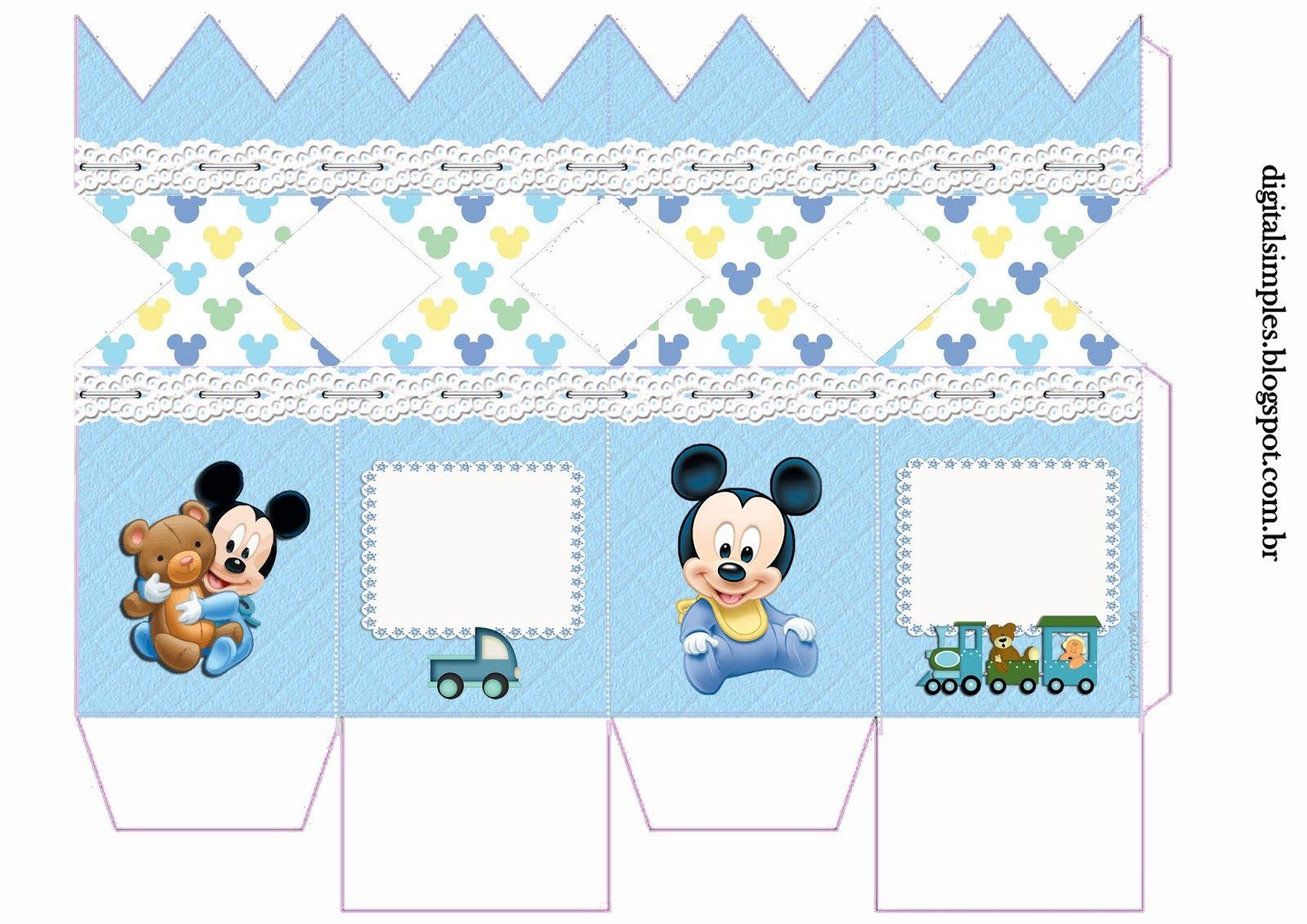 Kit Personalizados Mickey Mouse Baby Disney Para Imprimir Com