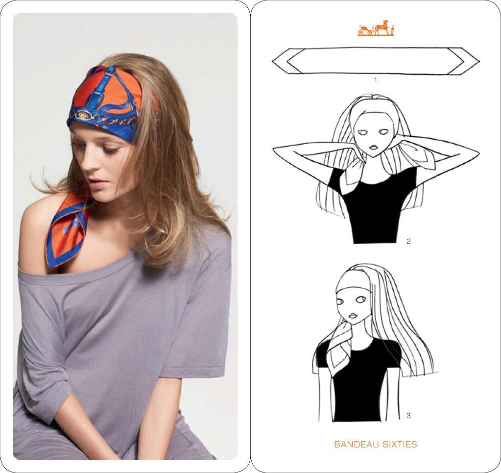Comment porter, nouer, mettre foulard cheveux ? Foulard