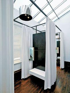Simple dressing room idea use mdf separator and ikea for Dressing ikea 3d