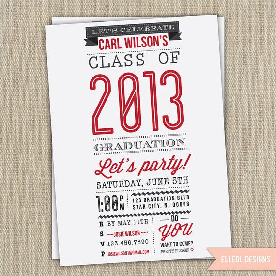 High school college graduation party invitation by elleol design high school college graduation party invitation by elleol filmwisefo