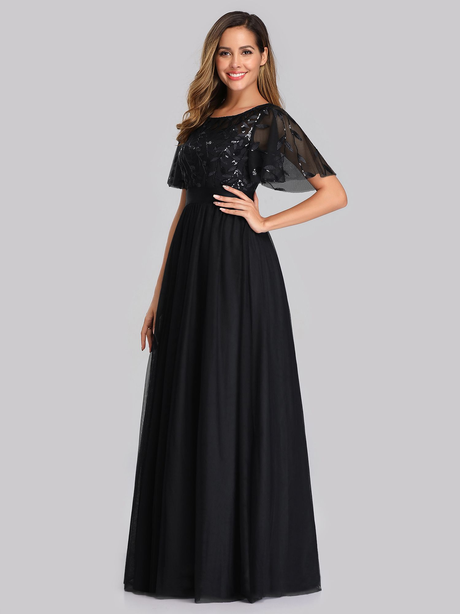 Ever Pretty Ever Pretty Womens Elegant Round Neck Tulle Evening Party Bridesmaid Dresses For Women 00904 Black Us16 Walmart Com Gowns Of Elegance Formal Dresses For Women Beautiful Evening Dresses [ 2000 x 1500 Pixel ]