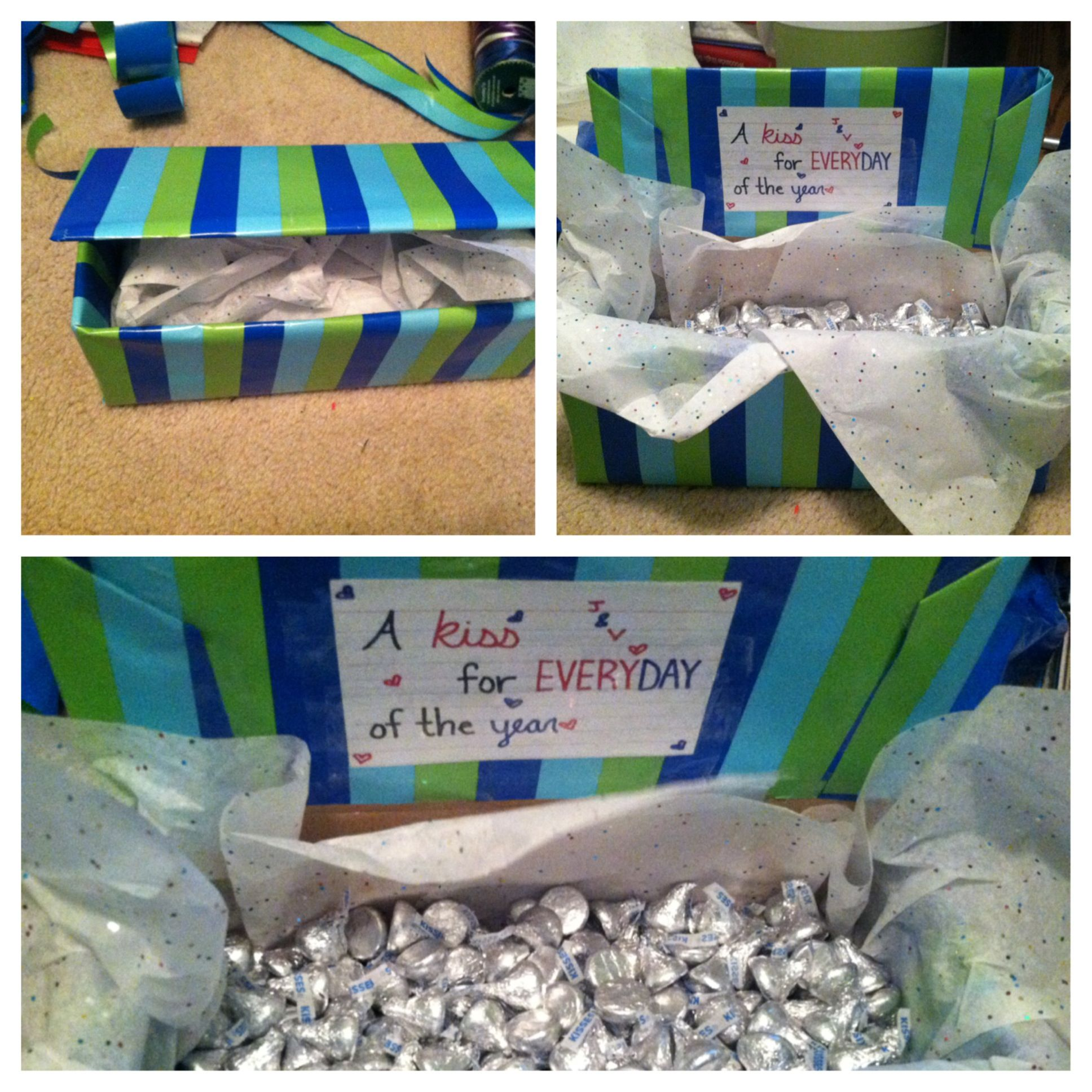 365 Hershey kiss gift box! Creative gift for a partner! Whether ...