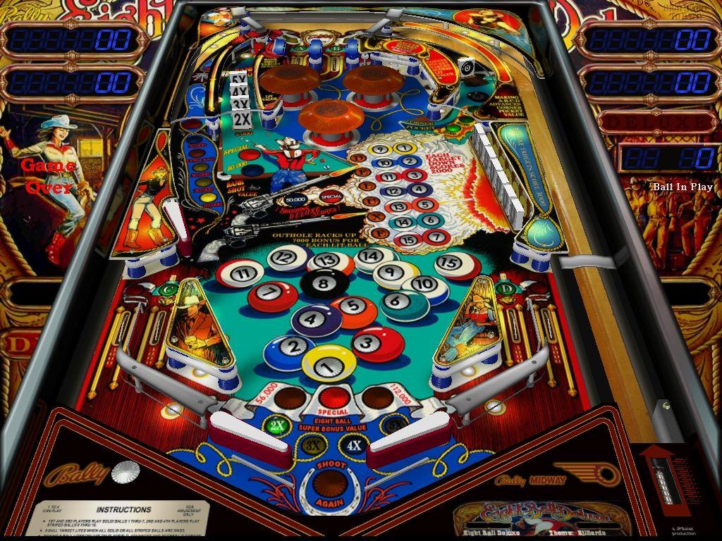 8 deluxe pinball machine