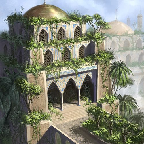 Hanging gardens by patrickmcevoy logangaiarpg deviantart concept art and rpg for Hanging gardens of babylon definition