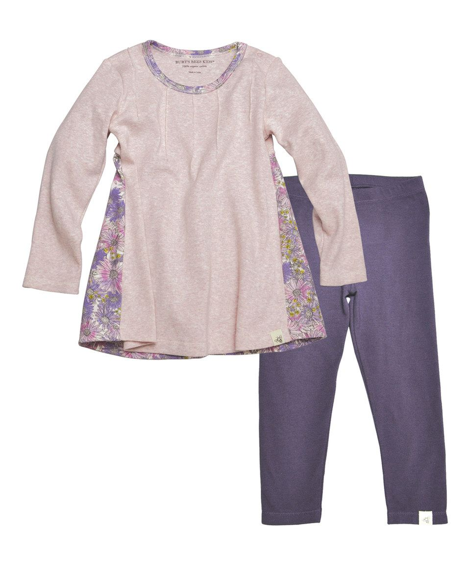 This Burt's Bees Baby Orchid Heather Floral Organic Dress & Leggings - Infant & Toddler by Burt's Bees Baby is perfect! #zulilyfinds