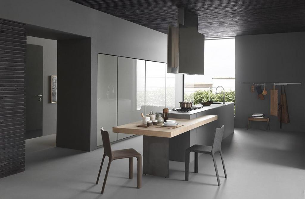 Double hauteur plan de travail La cuisine Pinterest Kitchens - Table De Cuisine Avec Plan De Travail