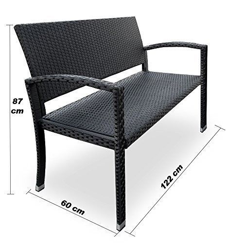 Strange Black Rattan Garden Bench 2 Seater Garden Bench Weather Caraccident5 Cool Chair Designs And Ideas Caraccident5Info